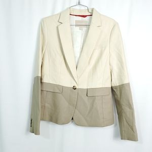 Banana Republic Color Block Alabaster Blazer